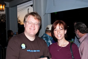 Robert Scoble and Charnell Pugsley at the Blellow Tweetup